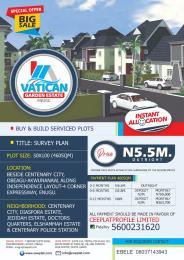 Serviced Residential Land Land for sale Vatican Garden estate enugu,beside centenary city,obeagu-akwunanaw,along independence layou-4 corner expressway,enugu.t Enugu Enugu