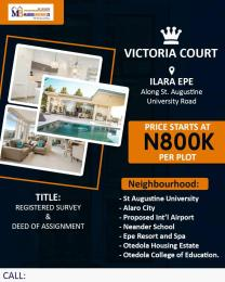 Mixed   Use Land Land for sale Victoria court Facing Augustine University Road  Epe Road Epe Lagos