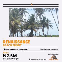Residential Land Land for sale Renaissance Beach Front Free Trade Zone Ibeju Lekki Free Trade Zone Ibeju-Lekki Lagos