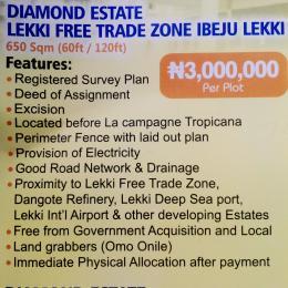 Commercial Land Land for sale Diamond Estate Along Lekki Free Trade Zone Phase 3 Free Trade Zone Ibeju-Lekki Lagos