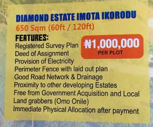 Mixed   Use Land Land for sale Diamond estate imota ikorodu,lagos state Ikorodu Ikorodu Lagos