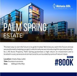 Residential Land Land for sale Palm spring estate in Imendu ibeju lekki  Ibeju-Lekki Lagos