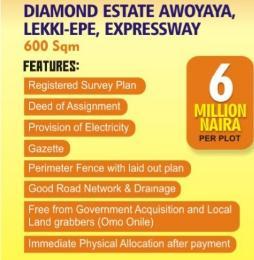 Mixed   Use Land Land for sale Diamond estate Awoyaya, lekki - epe Expressway Epe Road Epe Lagos