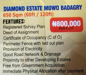Mixed   Use Land Land for sale Diamond estate mowe badagry,lagos state Badagry Badagry Lagos