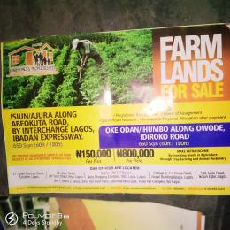 Mixed   Use Land Land for sale Isiun Ajura Along Abeokuta Road By Interchange Lagos Ibadan Expressway  Arepo Arepo Ogun