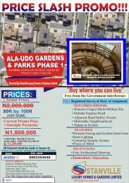 Residential Land Land for sale Ala-udo gardens & parks phase 1 onitsha owerri road ogbaku by winners chapel camp site.  Owerri Imo