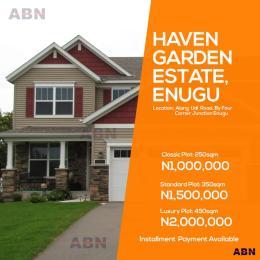 Residential Land Land for sale Haven garden estate along udi road by four corner junction Eungu Enugu Enugu
