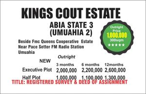 Residential Land Land for sale beside Queen cooperative estate. Umuahia North Abia