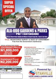 Residential Land Land for sale Ala-Udo Gardens and parks, Onitsha Owerri Road, Ogbaku Owerri Imo