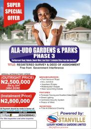 Residential Land Land for sale Ala-Udo Gardens and Parks Phase 3, Portharcout Road, Nekede Owerri West Owerri Imo