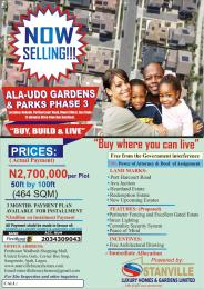 Land for sale Alaudo Luxury Gardens Phz 3, Ph Rd, Nekede After Avu Junction Owerri Imo