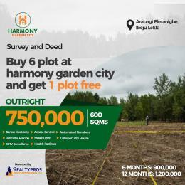 Land for sale Harmony Garden Estate, Close To Pan Atlantic University Eleranigbe Ibeju-Lekki Lagos