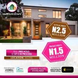 Residential Land Land for sale Happy Life Estate, Mowe Ofada Mowe Obafemi Owode Ogun