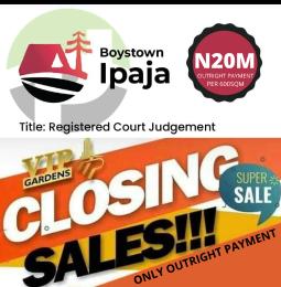 Residential Land Land for sale VIP Gardens, Boystown Opposite Lagos Housing Estate (Abesan) Boys Town Ipaja Lagos