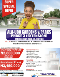 Residential Land Land for sale PH RD, NEW OWERRI IMO Owerri Imo