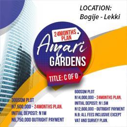 Residential Land Land for sale Okun-Oje Bogije  Lakowe Lekki  Lakowe Ajah Lagos