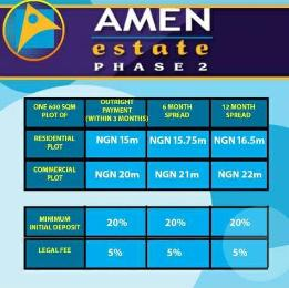 Serviced Residential Land Land for sale AMEN ESTATE PHASE 2 Eleko Ibeju-Lekki Lagos