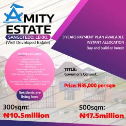 Serviced Residential Land Land for sale Amity Estate, 2Min Drive From Shoprite. Sangotedo Lagos