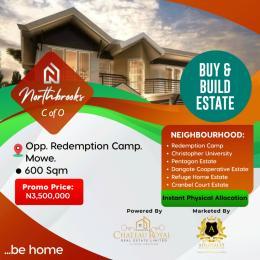 Residential Land Land for sale Mowe Opposite Redemption Camp Lagos Ewekoro Ogun