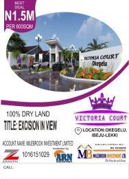 Residential Land Land for sale Victoria court Okegelu Ibeju Lekki  Eleranigbe Ibeju-Lekki Lagos