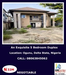 5 bedroom Detached Duplex House for sale Ogunu Warri,Delta State Warri Delta