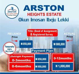 Residential Land Land for sale Okun Imosan Ibeju Lekki Ibeju-Lekki Lagos