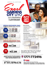Residential Land Land for sale Oron road off Airport road Uyo Akwa Ibom