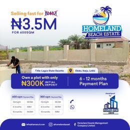 Mixed   Use Land for sale Homeland Beach Front Estate, Eleko Lagos Eleko Ibeju-Lekki Lagos