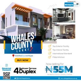 4 bedroom Terraced Duplex for sale Whales County Estate, Orchid Road, Close To Chevron Toll Gate Ikota Lekki Lagos