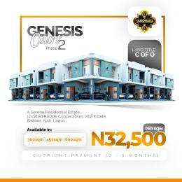 Mixed   Use Land Land for sale Beside Cooperatives Villa Estate, Badore, Ajah, Badore Ajah Lagos