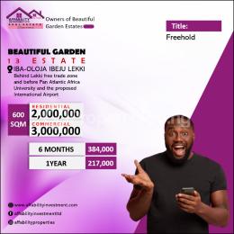 Residential Land for sale Behind Lekki Free Trade Zone Eputu Ibeju-Lekki Lagos