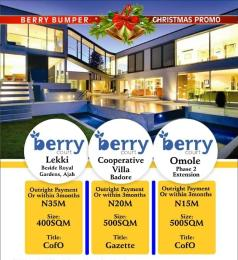 Residential Land Land for sale Cooperative Villa Badore Ajah Lagos