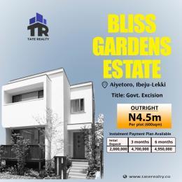 Residential Land for sale Aiyetoro, Directly Facing New International Airport. Ibeju-Lekki Lagos