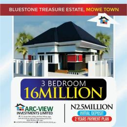 3 bedroom Detached Bungalow House for sale Mowe Obafemi Owode Ogun