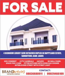 4 bedroom Semi Detached Duplex House for sale HAPPYLAND ESTATE Sangotedo Lagos