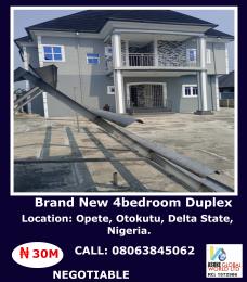 4 bedroom Detached Duplex House for sale Opete, Otokutu Warri Delta