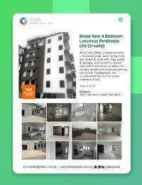 4 bedroom Penthouse Flat / Apartment for sale At Landmark Rd, Victoria island extension, Oniru ONIRU Victoria Island Lagos