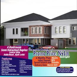4 bedroom Semi Detached Duplex House for sale SABINI VILLA Ado Ajah Lagos