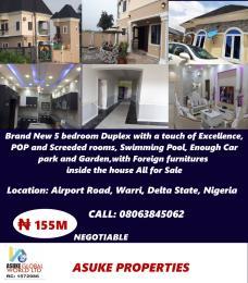 5 bedroom House for sale Airport Road Warri Delta State Nigeria Uvwie Delta