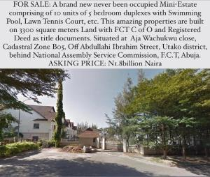 Detached Duplex House for sale Utako Abuja