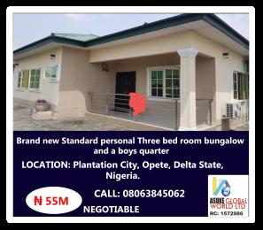 3 bedroom Detached Bungalow House for sale Plantation City, Opete, Delta State Warri Delta