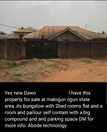 2 bedroom Terraced Bungalow House for sale Matogun  Agbado Ifo Ogun
