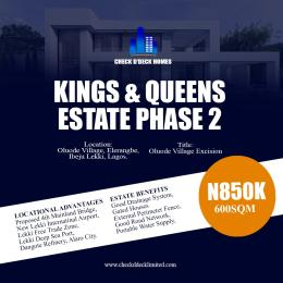 Residential Land Land for sale Oluode Excision Eleranigbe Ibeju-Lekki Lagos