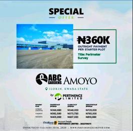 Residential Land Land for sale Amoyo estate, off ilorin-offa expressway, amoyo, ganmo, ilorin. Ilorin Kwara