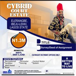 Residential Land Land for sale Off Ajegbenwa Road Eleranigbe Ibeju-Lekki Lagos