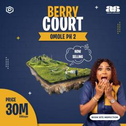 Serviced Residential Land Land for sale Sharing Boundary With Magodo Phase 2 Omole phase 2 Ojodu Lagos