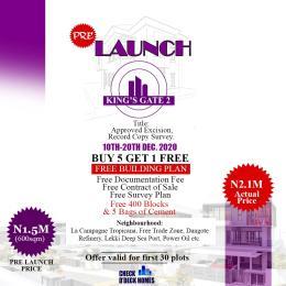 Residential Land Land for sale Imosan Town LaCampaigne Tropicana Ibeju-Lekki Lagos