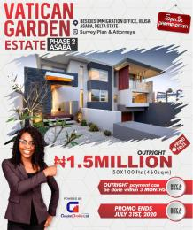 Residential Land Land for sale Behind Immigration, Along Ibusa Rd, Asaba. Asaba Delta