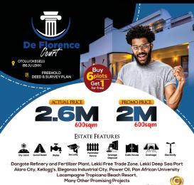 Mixed   Use Land for sale De Florence Estate Otolu Free Trade Zone Ibeju-Lekki Lagos