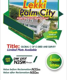 Residential Land Land for sale Lekki Palm City And Shares Boundary With Vgc Waterfront Lekki Phase 2 Lekki Lagos